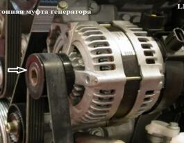 Неисправность обгонной муфты генератора на дизельном Freelander 2 2.2TD