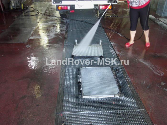 Промывка радиаторов на Ленд Ровер