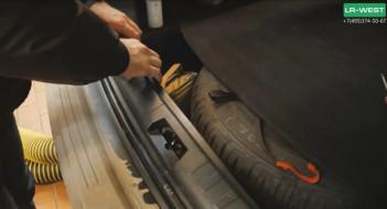 Заклинил замок багажника Freelander 2 и Range Rover Evoque. Вскрытие замка за 30 секунд.
