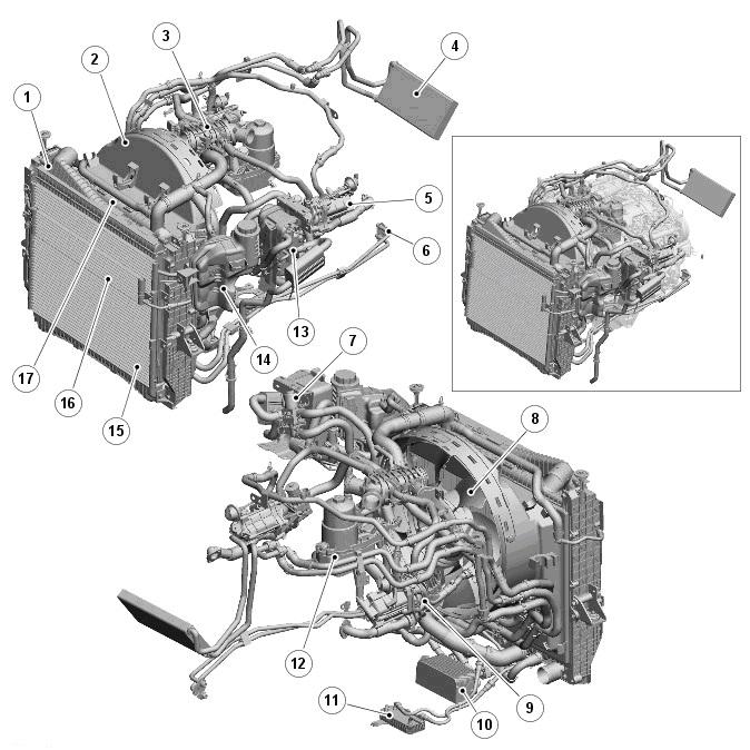 Система охлаждения дизельного