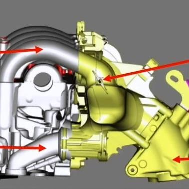 Система впуска дизельного двигателя 2.2 TD4