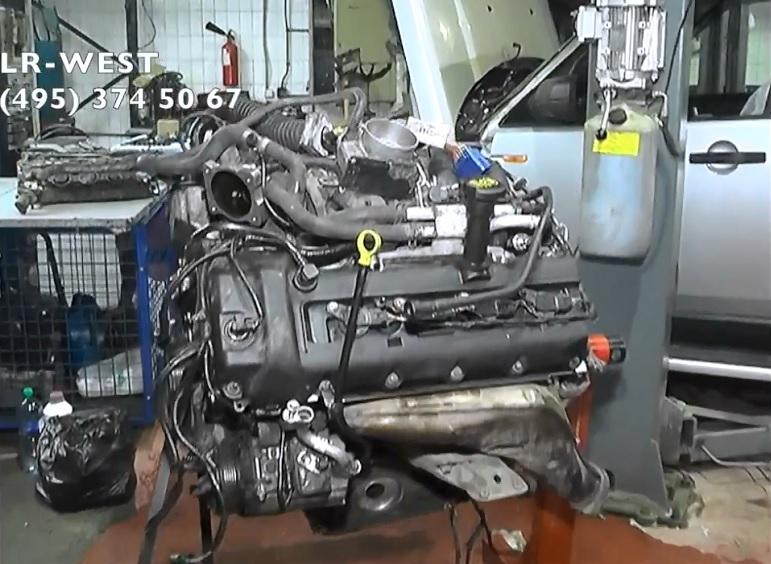 Диагностика двигателя Range Rover Sport